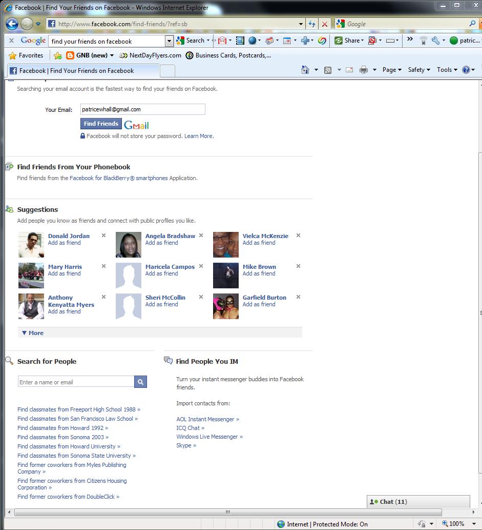 Google find friends on facebook