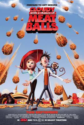 Cloudy with a Chance of Meatballs, animation, movie, poster