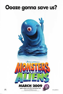 monsters vs aliens, movie, film, cover, animated