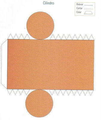 cilindro Figuras Geométricas para crianças
