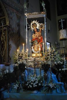 Altar llegada a la Iglesia