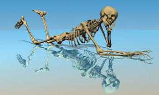 Nem que viva mais cem anos - esqueleto pensante
