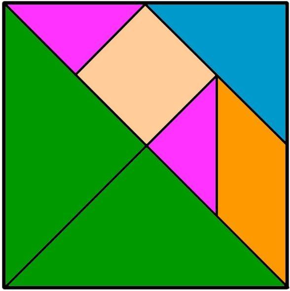 Tangrar un juego didactico para ni os y como hacer un for Cuadros con formas geometricas
