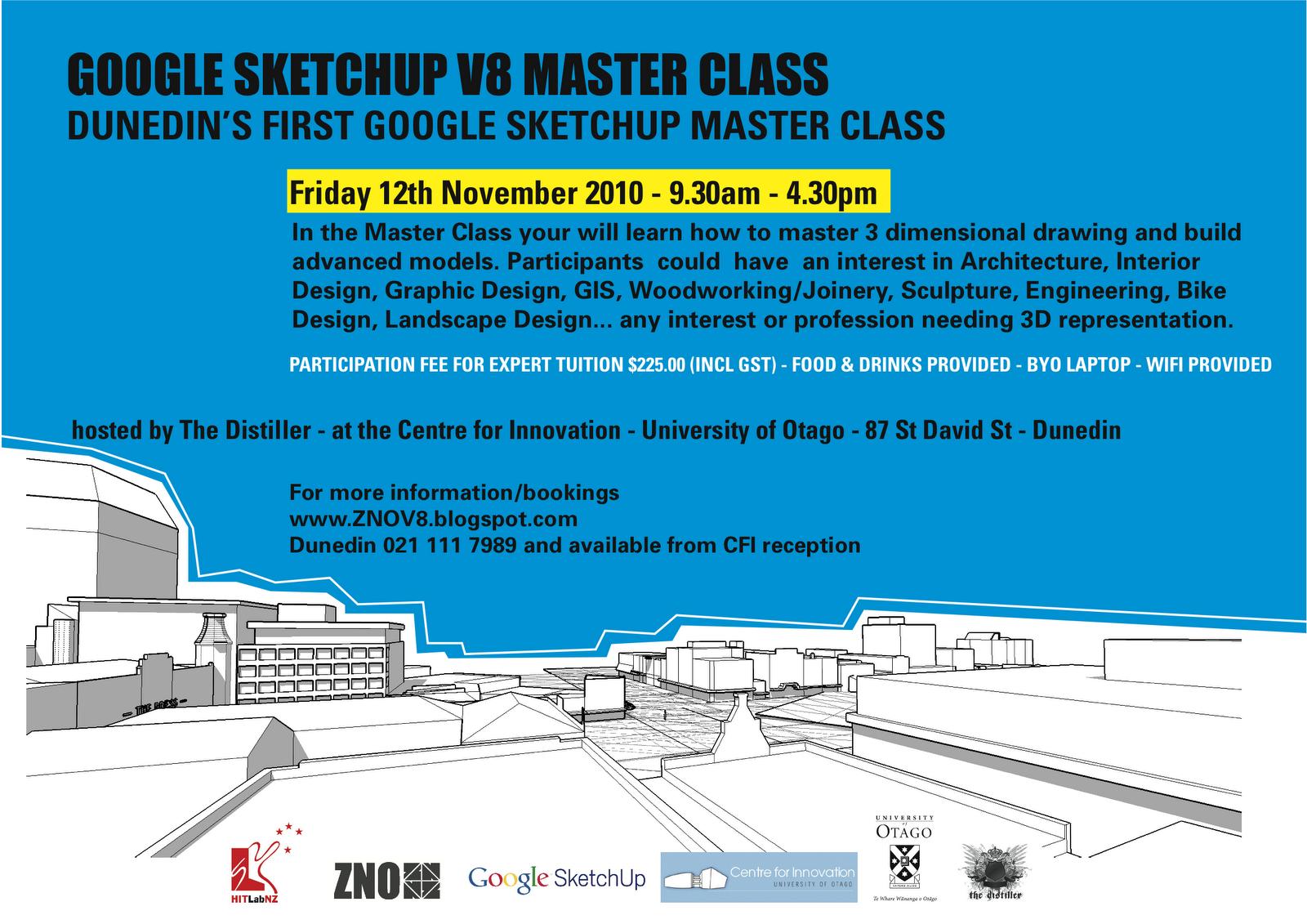 ZNO Google SketchUp V8 Workshops.: GOOGLE SKETCHUP V8 MASTERCLASS ...