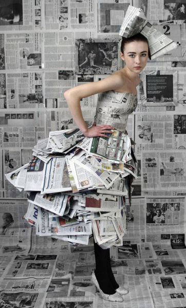 journey of an eco fashion brand     newspaper dress