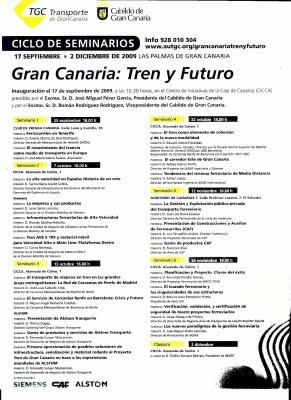 CICLO DE SEMINARIOS - GRAN CANARIA: Tren y Futuro.