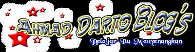 Ahmad Darto Personal Webblog