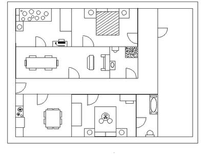 Sergio tecnologia plano de la casa for Simbologia de muebles para planos