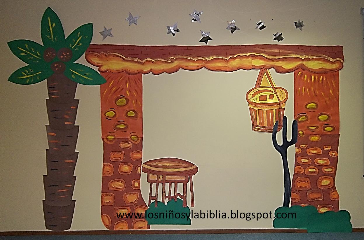 Los ni os y la biblia mural navide o hecho por los ni s for Mural navideno