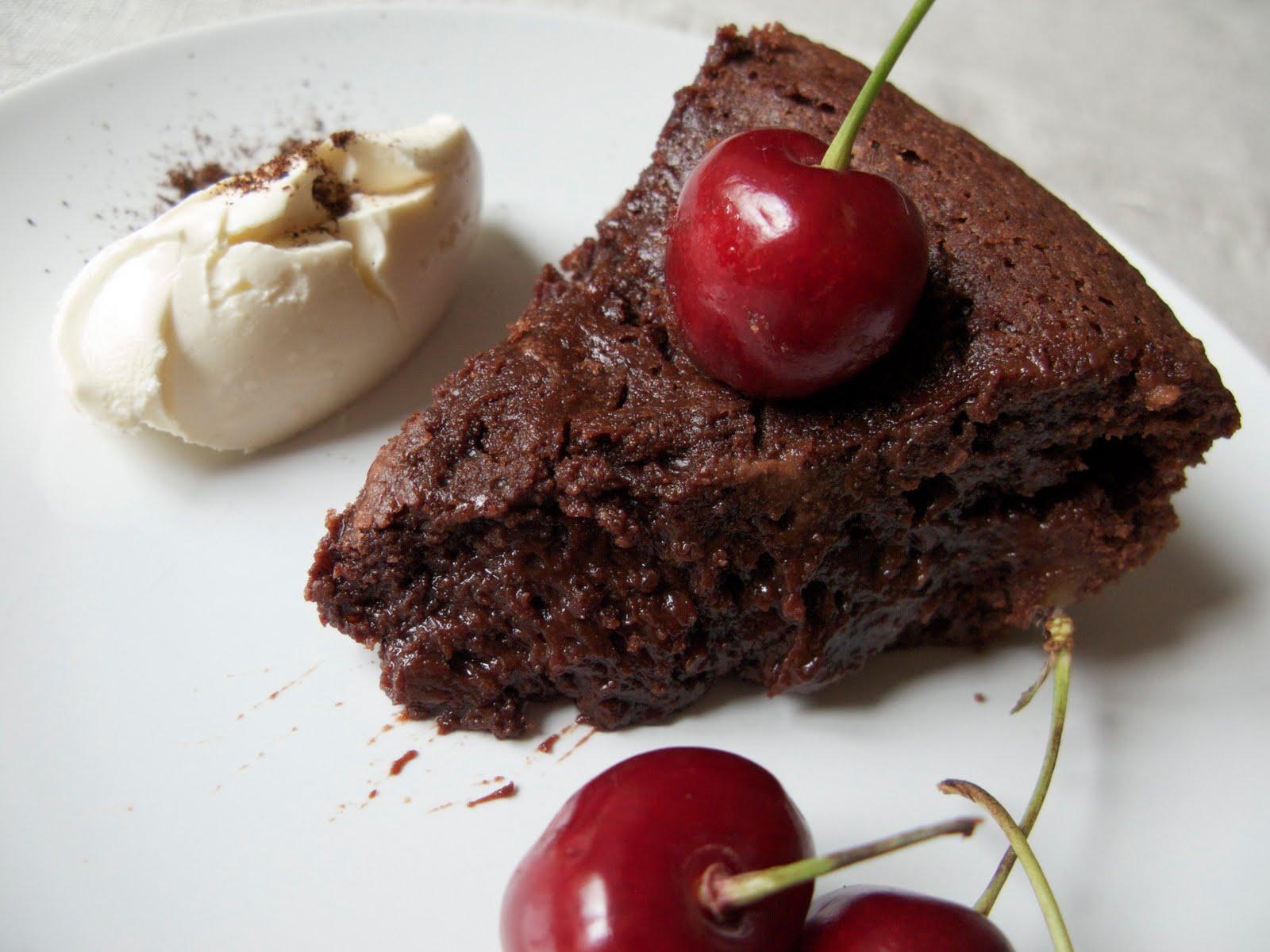 Gateau aux cerises et au chocolat