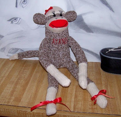 girl sock monkey