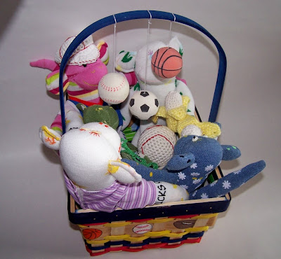 sock monkey basket