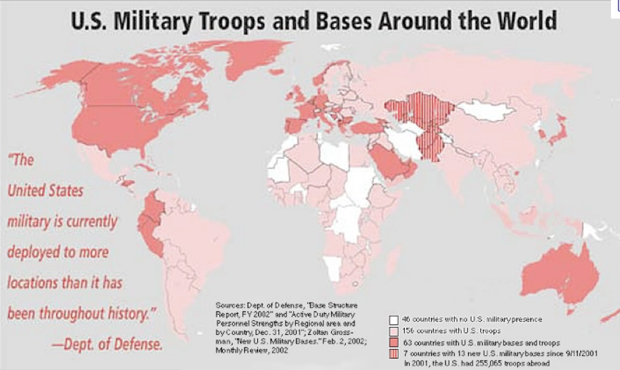 Mapping US Foreign Military Bases GeoCurrents - Us troops near russia map