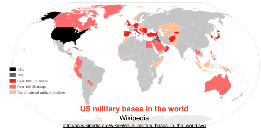 Mapping US Foreign Military Bases GeoCurrents - World map us