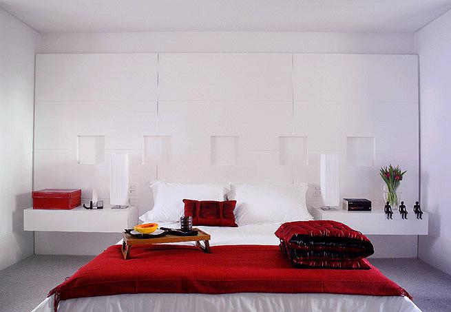 Arquitetando Na Net ARQUITETANDO COM THELMINHA  ~ Quarto Solteiro Vermelho E Branco