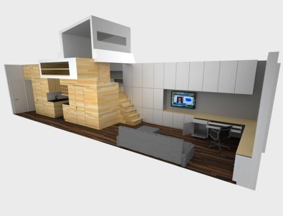 Arquitetando na net projeto premiado apartamento com 46 for Small apartment minimalist design