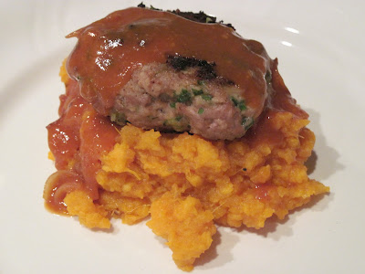 Mum in Bloom ~: Turkey-Thyme Meatloaf Patties with Mashed Sweet ...