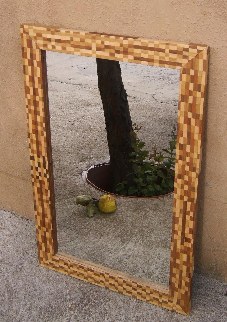 Espejo grande taracea for Espejo grande madera
