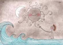 El sol. El mar.