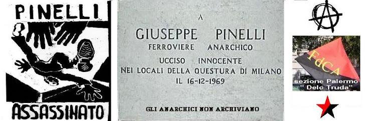 """Gli Anarchici non archiviano """" Pinelli """""""