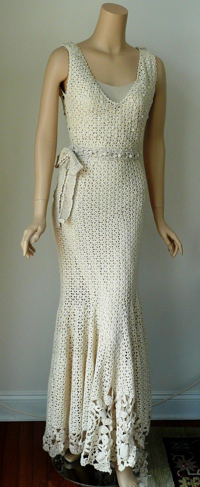Love is being silly together gorgeous crochet dress for Crochet wedding dress patterns