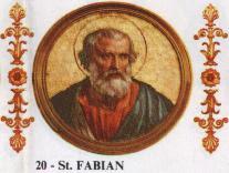 HISTOIRE ABRÉGÉE DE L'ÉGLISE - PAR M. LHOMOND – France - année 1818 (avec images et cartes) Pope_St_Fabian_the_Martyr_of_Rome_236-250