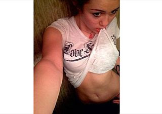 miley cyrus topless photos real