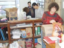 Donaciones que llegaron a la División de Bienestar Social