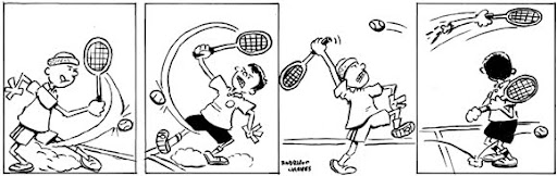 tirinha comic strip tenis