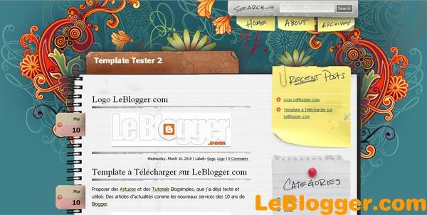 NotePad Chaos - Template Blogger Blogspot