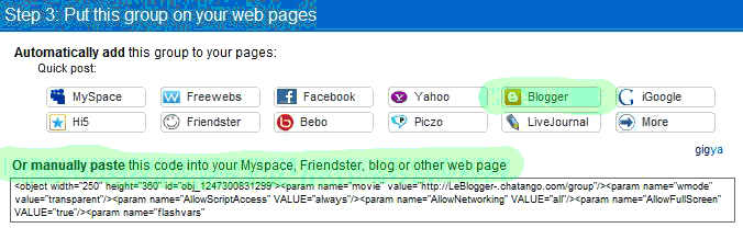chat Blogger