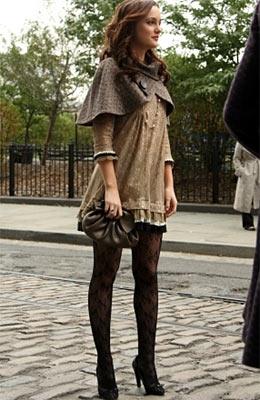 Blair from Gossip Girl wearing her lace leggings