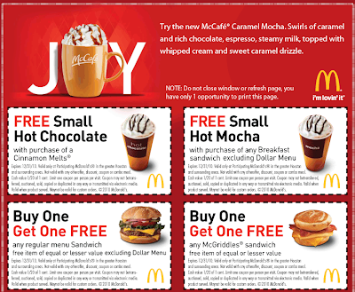 image about Printable Coffee Coupons named McDonalds Printable Discount coupons!!