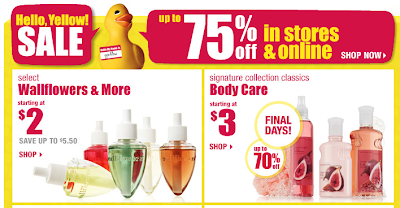 Bath body works clearance sale items starting at for A bathroom item that starts with s
