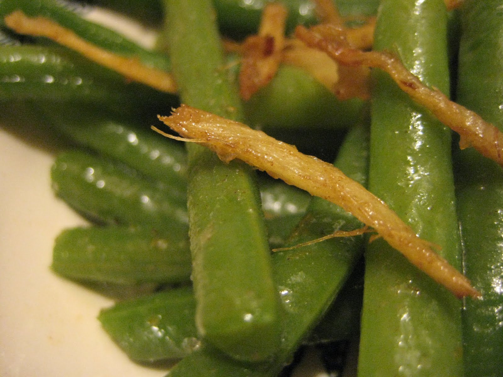 Bookcook: GREEN BEANS WITH GINGER BUTTER