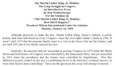 Short essay martin luther king jr