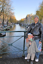 Hubby & Noah, Amsterdam, canal