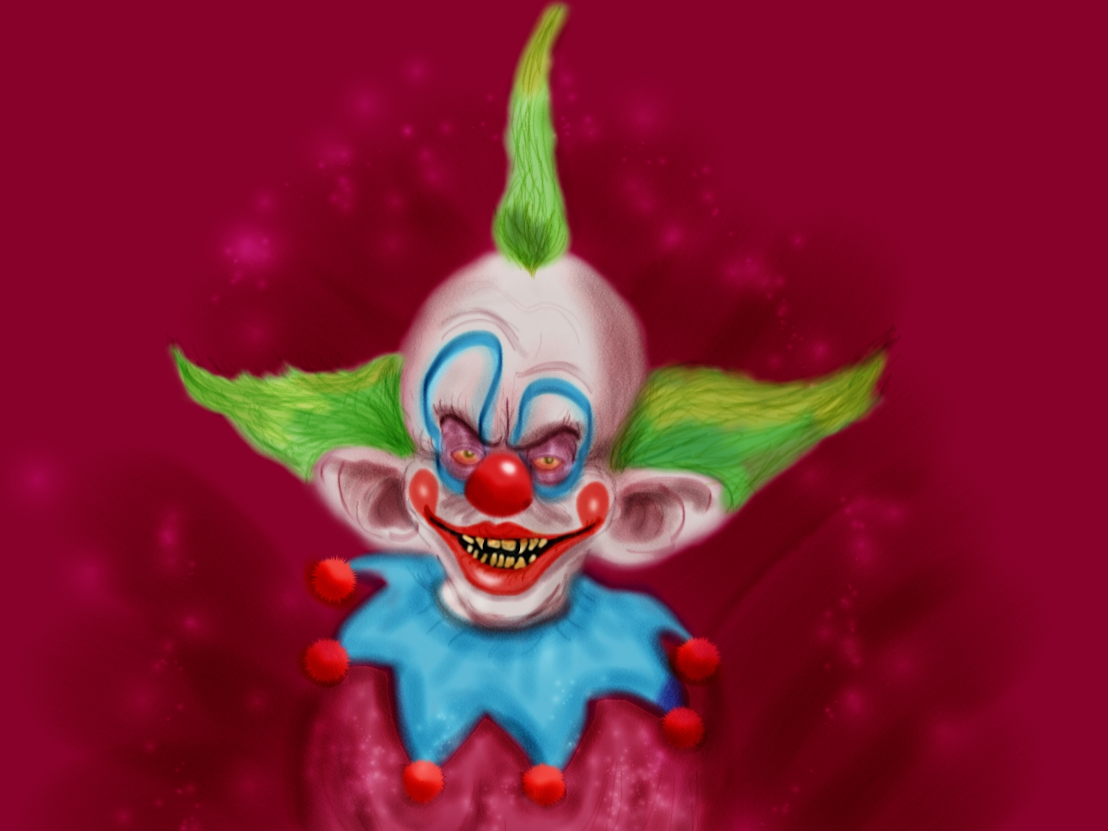 Cartoon and horror fan art friday andreas silva makinita for Killer klowns 2
