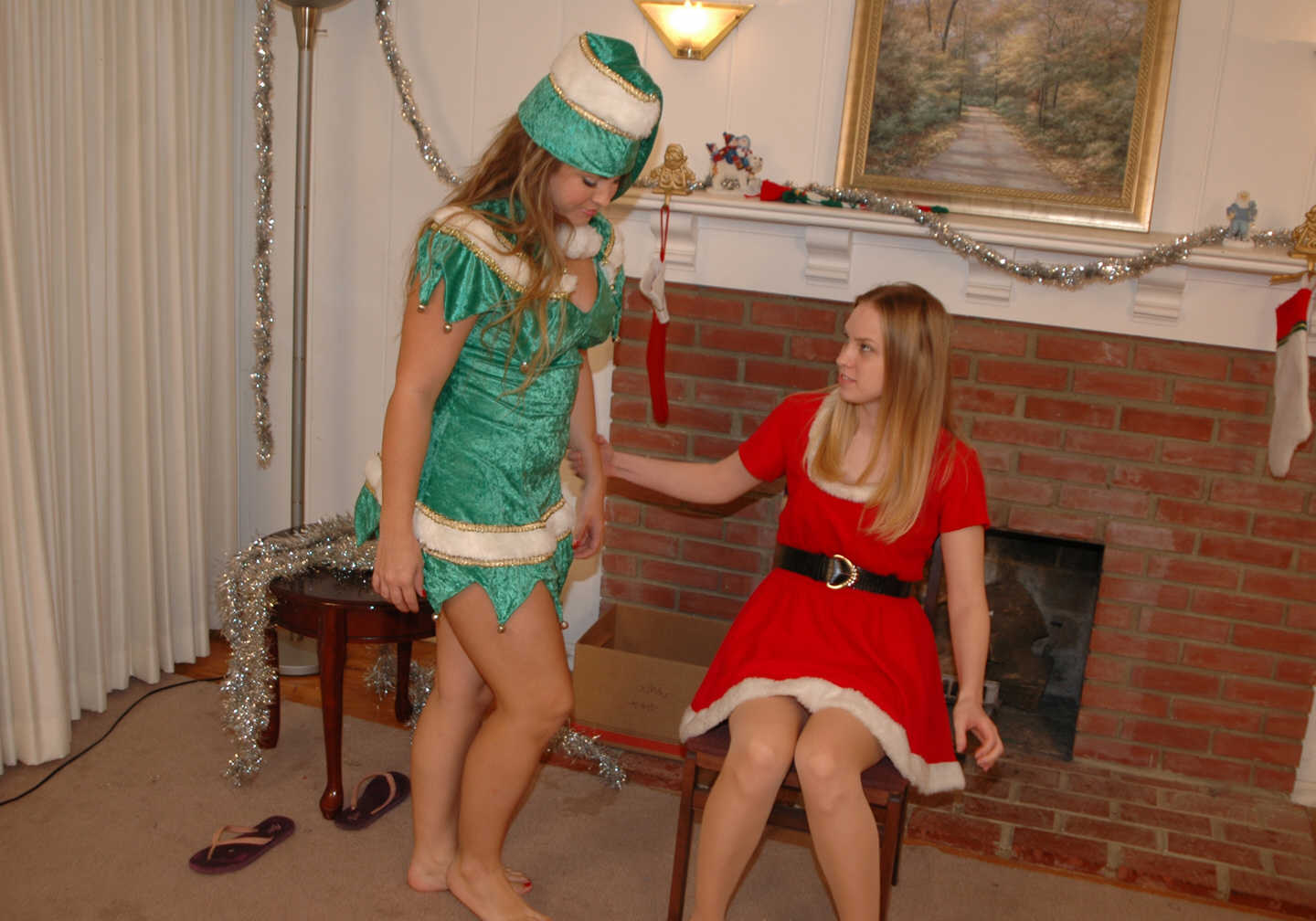 Christmas elf spanking video xxx fucking scene