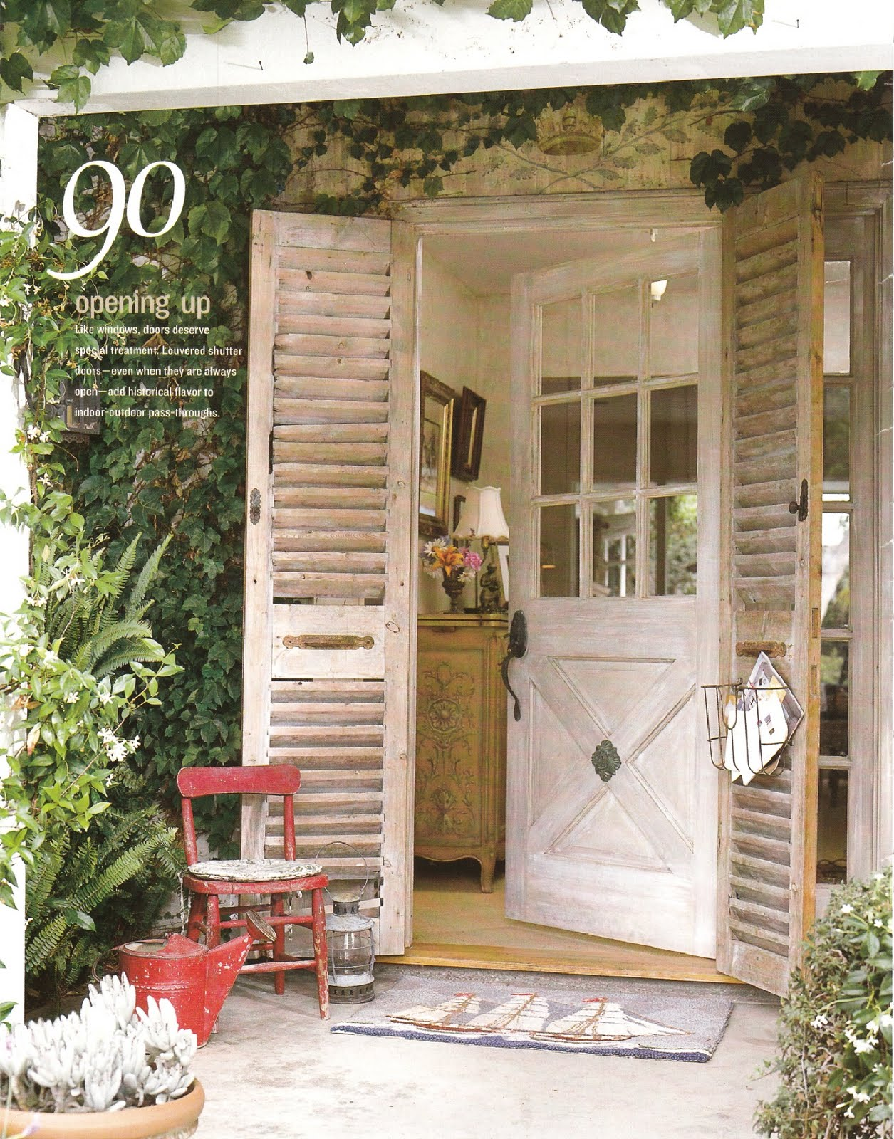 Rock candy white 39 door 39 corating for Cottage back door