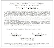 CONVOCATORIA PARA NOMBRAR COMISION ELECTORAL 2009