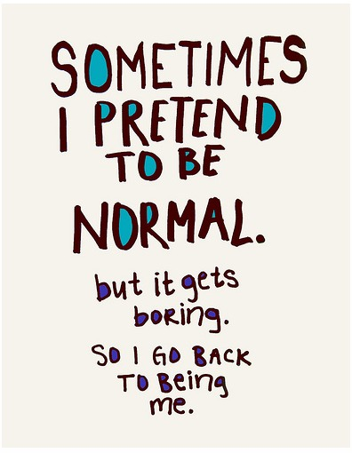sometimes I pretend to...