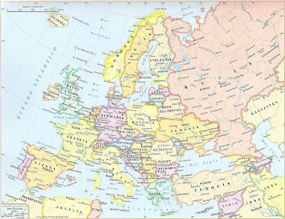 mapa de europa. mapa europa y africa. italia