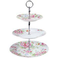 Made With Love Blog: Flowers Cath Kidson :  floral pink roses cake stand china