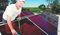 Kelpies, utes, solar panels