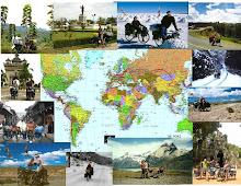 """""""Sur la route du monde avec nos petites reines. 9 ans 244jours, 167.000 km,60 pays."""