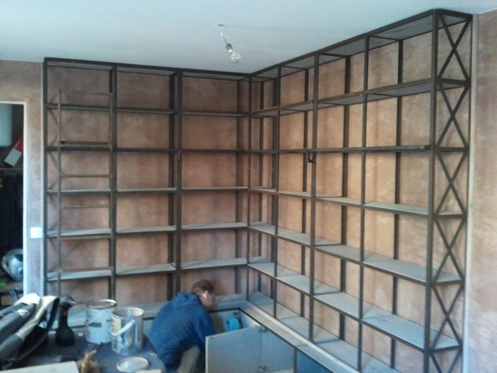blog de la maison de l 39 imaginarium l 39 ambiance factory 100 sur mesure biblioth que en angle. Black Bedroom Furniture Sets. Home Design Ideas
