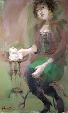 Girl in a Café