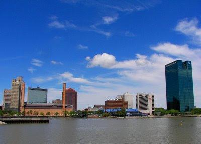 Riverfront view of dowtown Toledo, Ohio