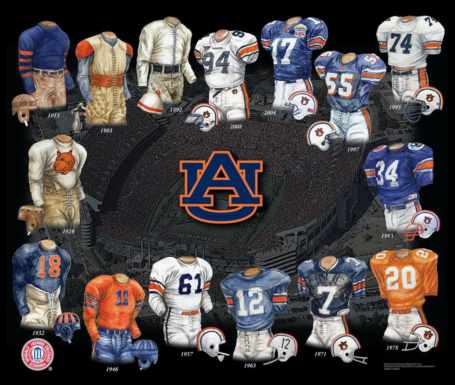 Auburn Football Uniform History
